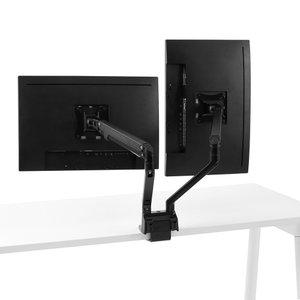Swing Double Monitor Arm Black