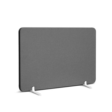 "Fabric Privacy Panel Footed, 27"" Gray"