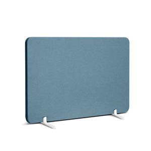 Slate Blue Fabric Privacy Panel, Footed 27""