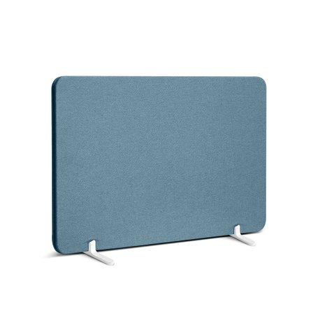 "Fabric Privacy Panel, Footed, 27"" Slate Blue"