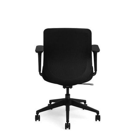 Black Max Task Chair, Mid Back, Black Frame