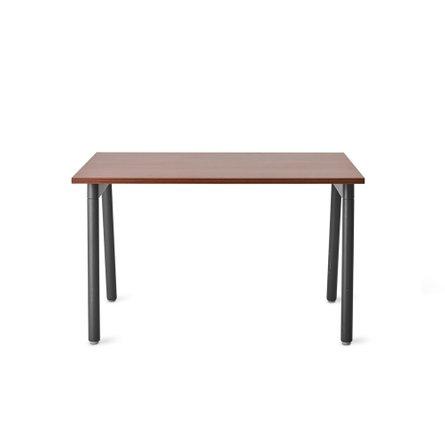 "Series A Single Desk for 1, Walnut, 47"", Charcoal Legs"