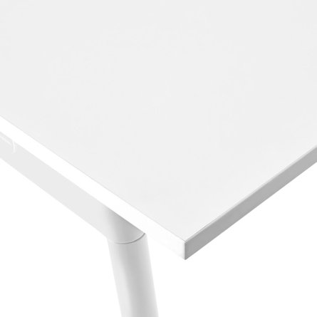 "Series A Double Desk for 2, White, 47"", White Legs"