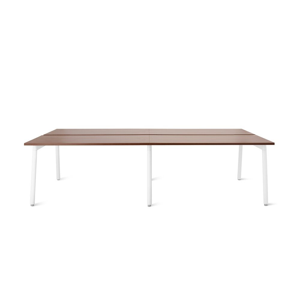 """For Rent San Francisco Bay Area: Series A Double Desk For 4 White Legs, 47"""" Walnut In SF"""