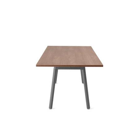 "Series A Executive Desk, Walnut, 72"", Charcoal Legs"