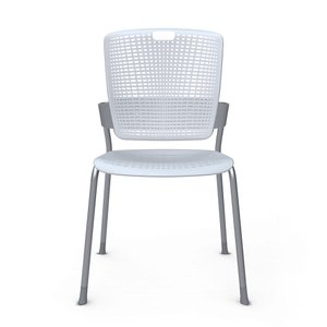 Shell Light Gray Cinto Chair, Silver Frame