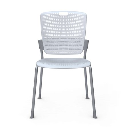 Shell Light Gray Cinto Chair, Silver Frame