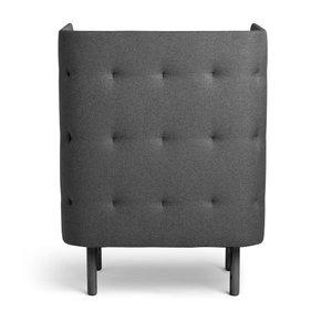 QT Privacy Lounge Chair Dark Gray