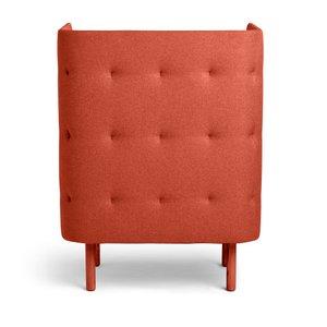 QT Privacy Lounge Chair Brick