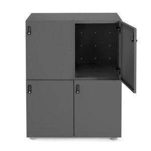 Stash 4-Door Locker Charcoal
