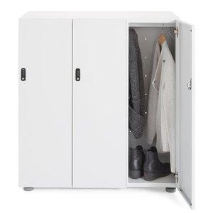 Stash 3-Door Coat Locker White