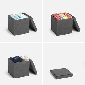 Box Seat Dark Gray