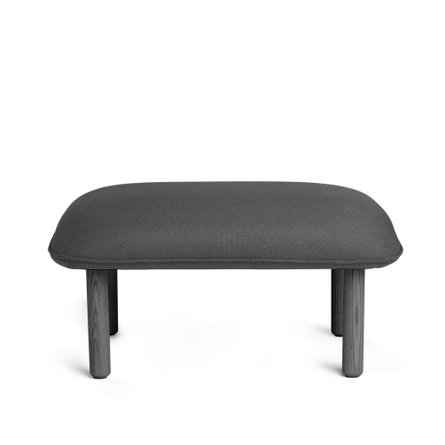 Privacy Lounge Ottoman Dark Gray