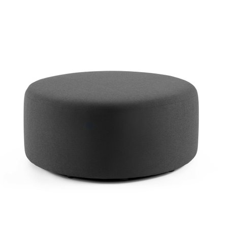 "Block Party Lounge Round Ottoman, 40"" Dark Gray"