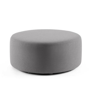 "Party Lounge Round Ottoman, 40"" Gray Block"