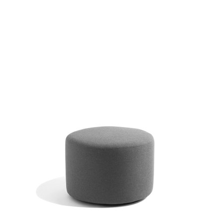 "Block Party Lounge Round Ottoman, 24"" Dark Gray"