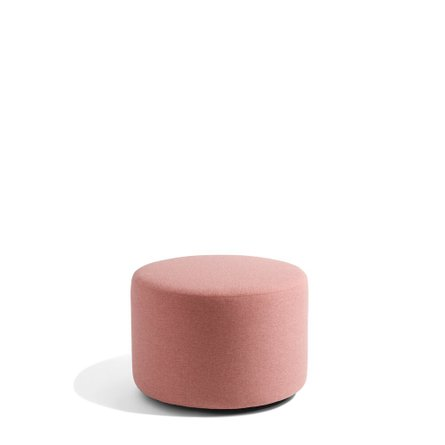 """Party Lounge Round Ottoman, 24"""" Rose Block"""