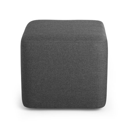 Block Party Lounge Ottoman Dark Gray