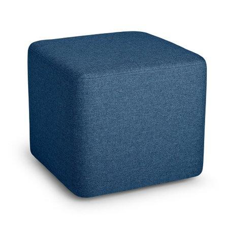 Block Party Lounge Ottoman Dark Blue