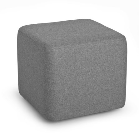 Party Lounge Ottoman Gray Block