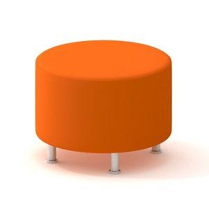Alight Round Ottoman, Orange