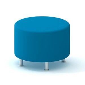 Alight Round Ottoman, Pool Blue