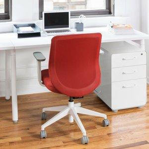 Max Task Chair, Mid Back, White Frame Brick