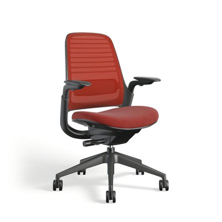 Steelcase Series 1 Chair, Black Frame Red