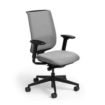 Reply Task Chair, Adjustable Arms, Adjustable Lumbar Gray