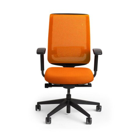 Reply Task Chair, Adjustable Arms, Adjustable Lumbar Orange