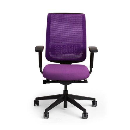 Reply Task Chair, Adjustable Arms, Adjustable Lumbar Purple