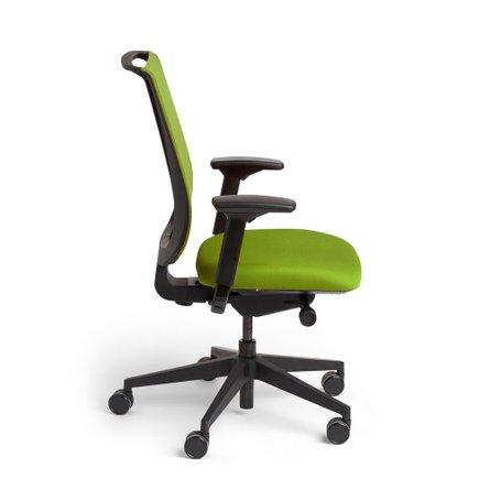 Reply Task Chair, Adjustable Arms, Adjustable Lumbar Green