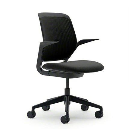 Cobi Desk Chair, Black Frame Black