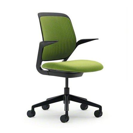 Cobi Desk Chair, Black Frame Lime Green