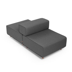 Block Party Lounge Back It Up Chair Dark Gray