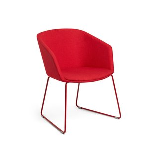 Pitch Sled Chair Red