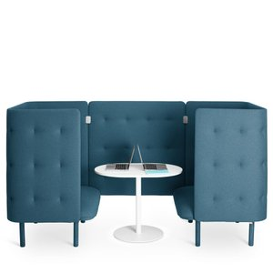 QT Chair Booth Dark Blue
