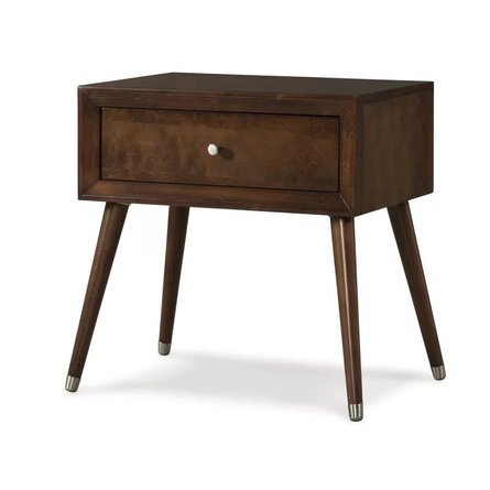 Kipling 1 Drawer Nightstand Chocolate