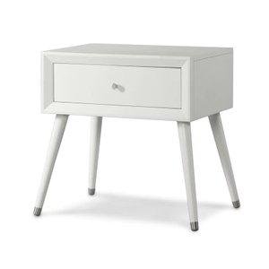 Kipling 1 Drawer Nightstand White