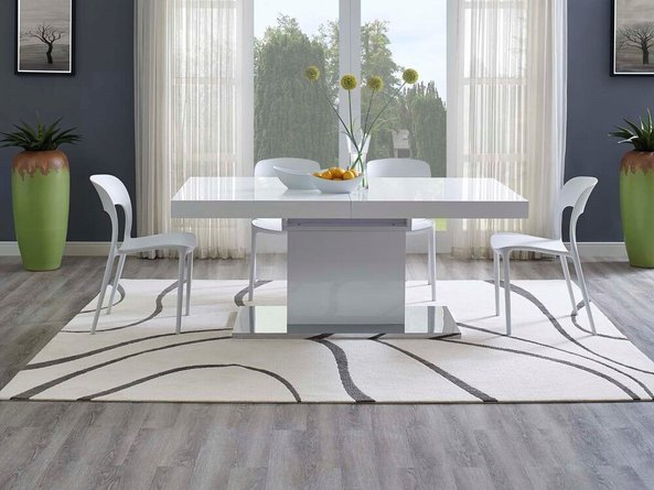 Therese Abstract Swirl 8' x 10' Area Rug Ivory And Charcoal