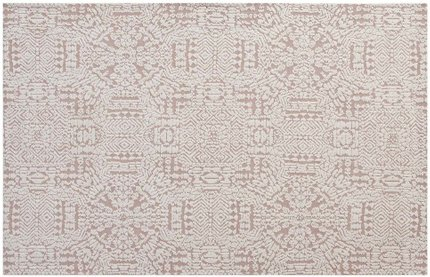Javiera Contemporary Moroccan 5' X 8' Area Rug Ivory and Cameo Rose