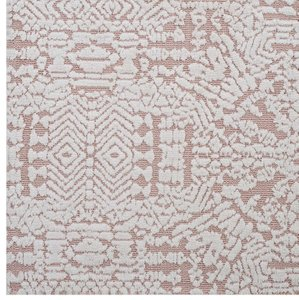 Javiera Contemporary Moroccan 8' x 10'  Area Rug Ivory And Cameo Rose