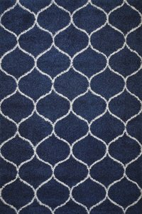 Afton Moroccan Tile Shag Area Rug (8' X 10') In Blue