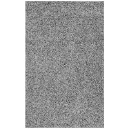 Enyssa Solid 8x10' Shag Area Rug Silver Gray