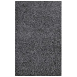 Enyssa Solid 8' x 10' Shag Area Rug Dark Gray