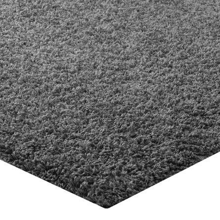 Enyssa Solid 8' x 10' Shag Area Rug Dark Gray