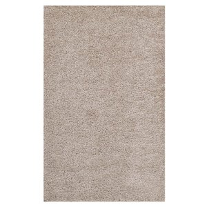 Enyssa Solid 8' x 10' Shag Area Rug Beige And Ivory