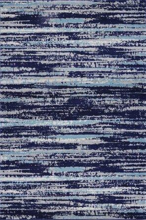 Crescent Distressed Stripe Area Rug (8' X 10') In Blue