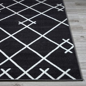 Abbey Geometric Area Rug (8' X 10') In Dark Gray
