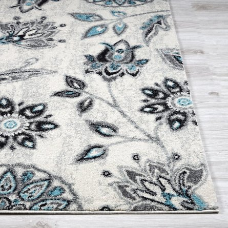 Albert Floral Area Rug (8' X 10') In Turquoise